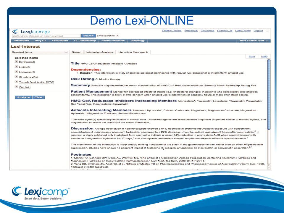 Demo Lexi-ONLINE