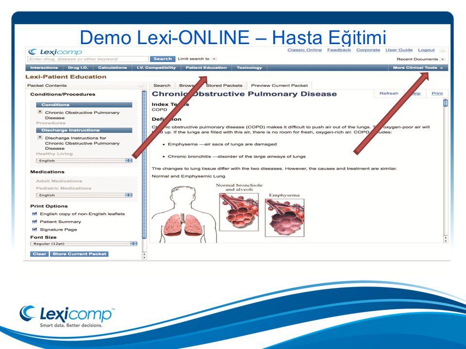 Demo Lexi-ONLINE – Hasta Eğitimi