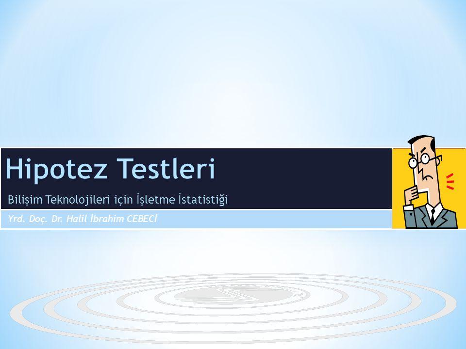 ÇİFT ÖRNEKLEM TESTLERİ İki farklı örneklemin birbiri ile arasındaki farklılıkların istatistiksel açıdan anlamlı olup olmadığının analiz edilmesi için çift örneklem testleri kullanılır.