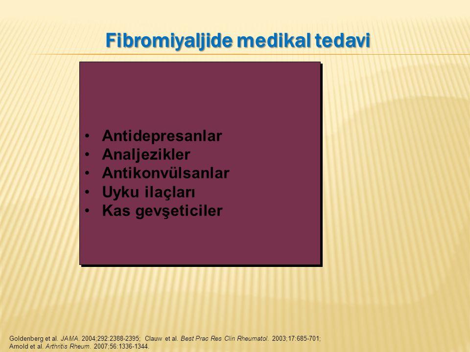 Goldenberg et al. JAMA. 2004;292:2388-2395; Clauw et al. Best Prac Res Clin Rheumatol. 2003;17:685-701; Arnold et al. Arthritis Rheum. 2007;56:1336-13