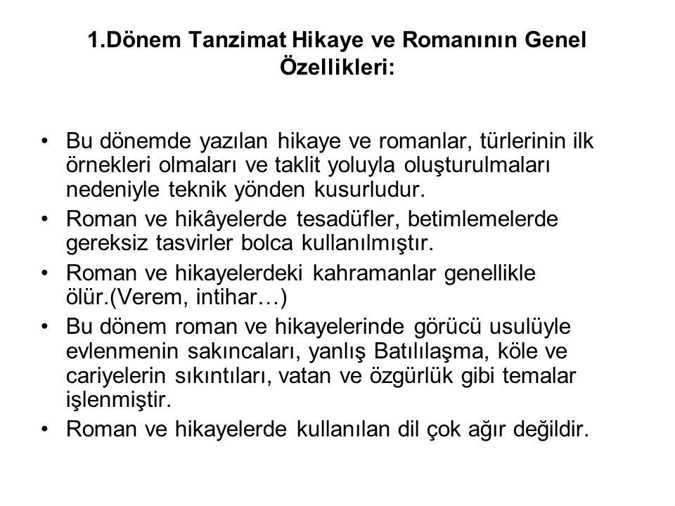 TANZİMAT EDEBİYATININ 1.