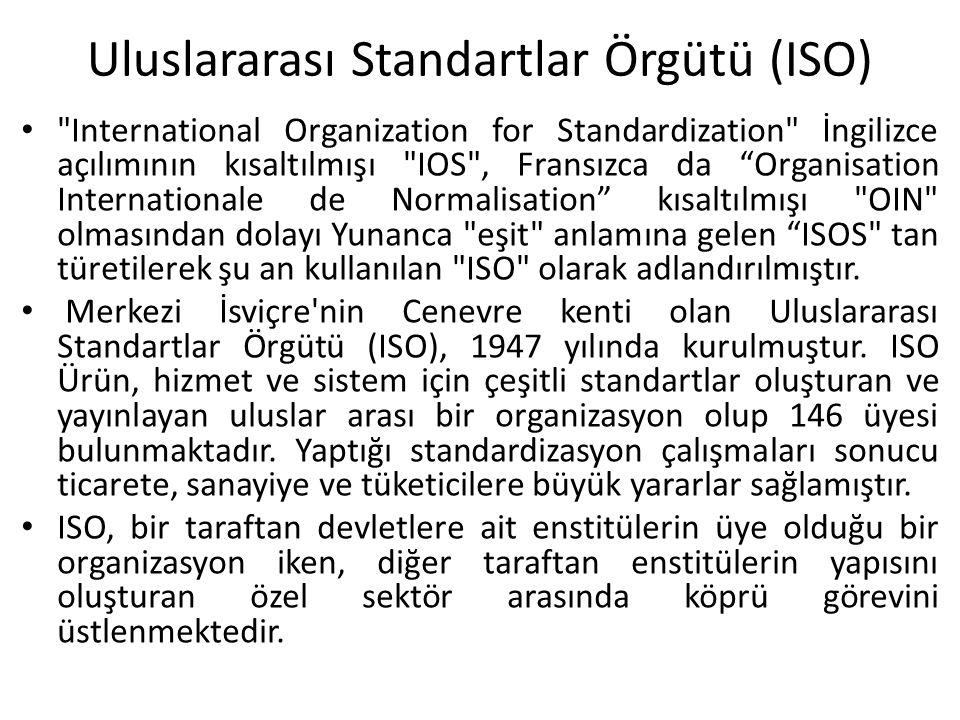 Uluslararası Standartlar Örgütü (ISO)