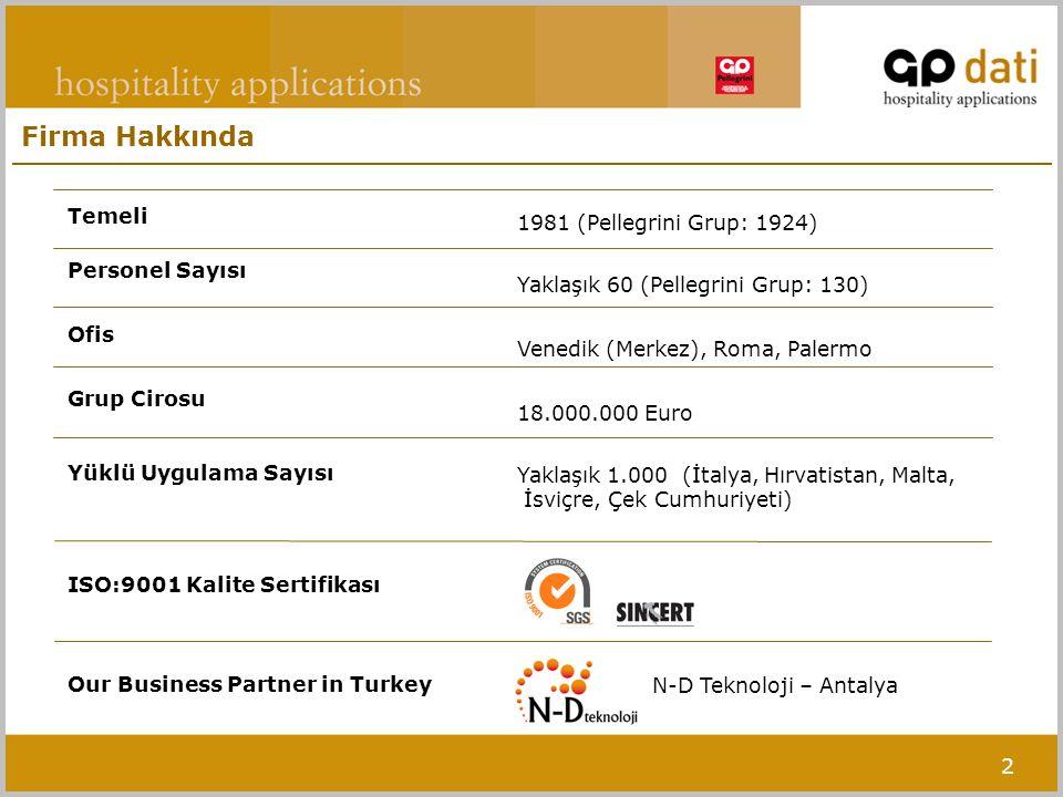 2 Firma Hakkında Temeli Personel Sayısı Ofis Grup Cirosu Yüklü Uygulama Sayısı ISO:9001 Kalite Sertifikası Our Business Partner in Turkey 1981 (Pelleg