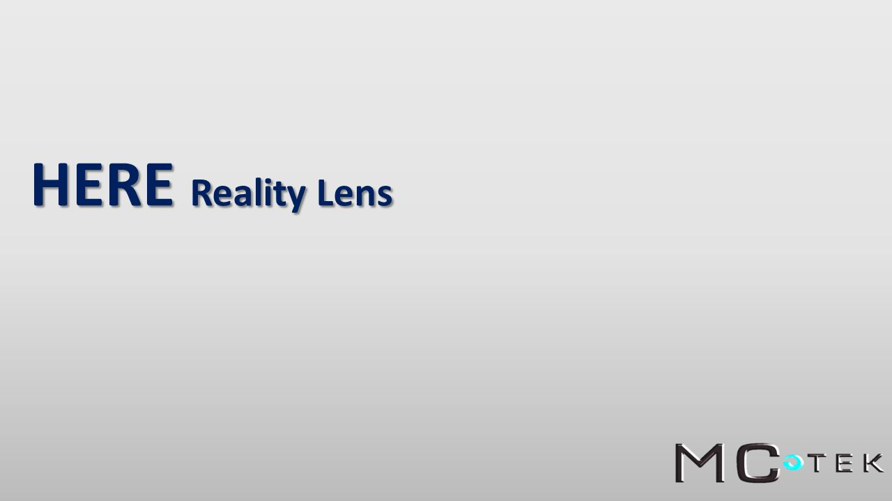 HERE Reality Lens