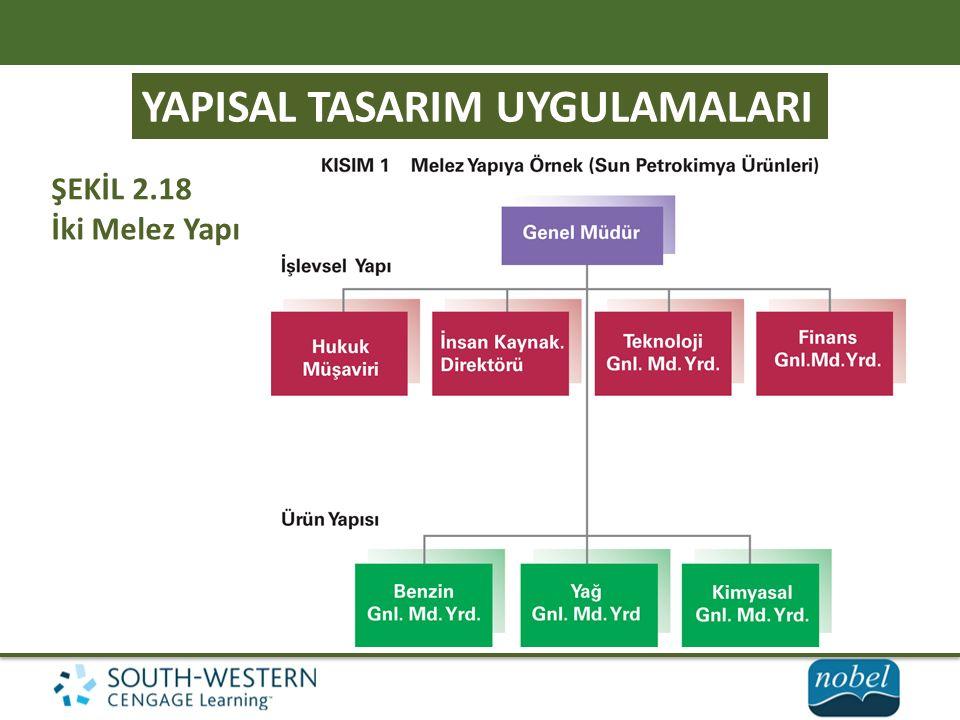 YAPISAL TASARIM UYGULAMALARI ŞEKİL 2.18 İki Melez Yapı