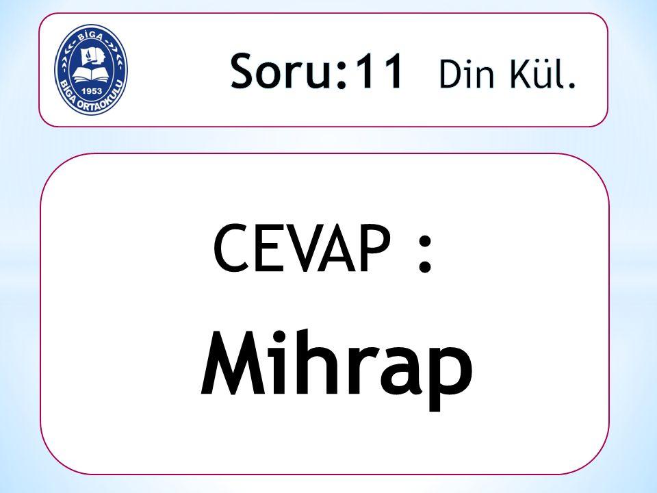 CEVAP : Mihrap