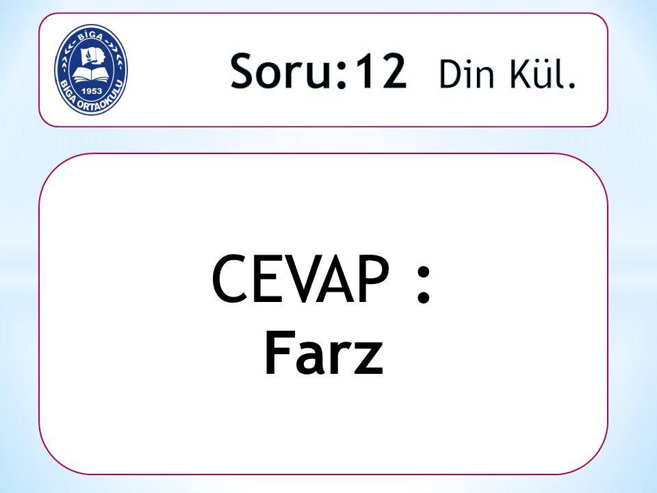CEVAP : Farz