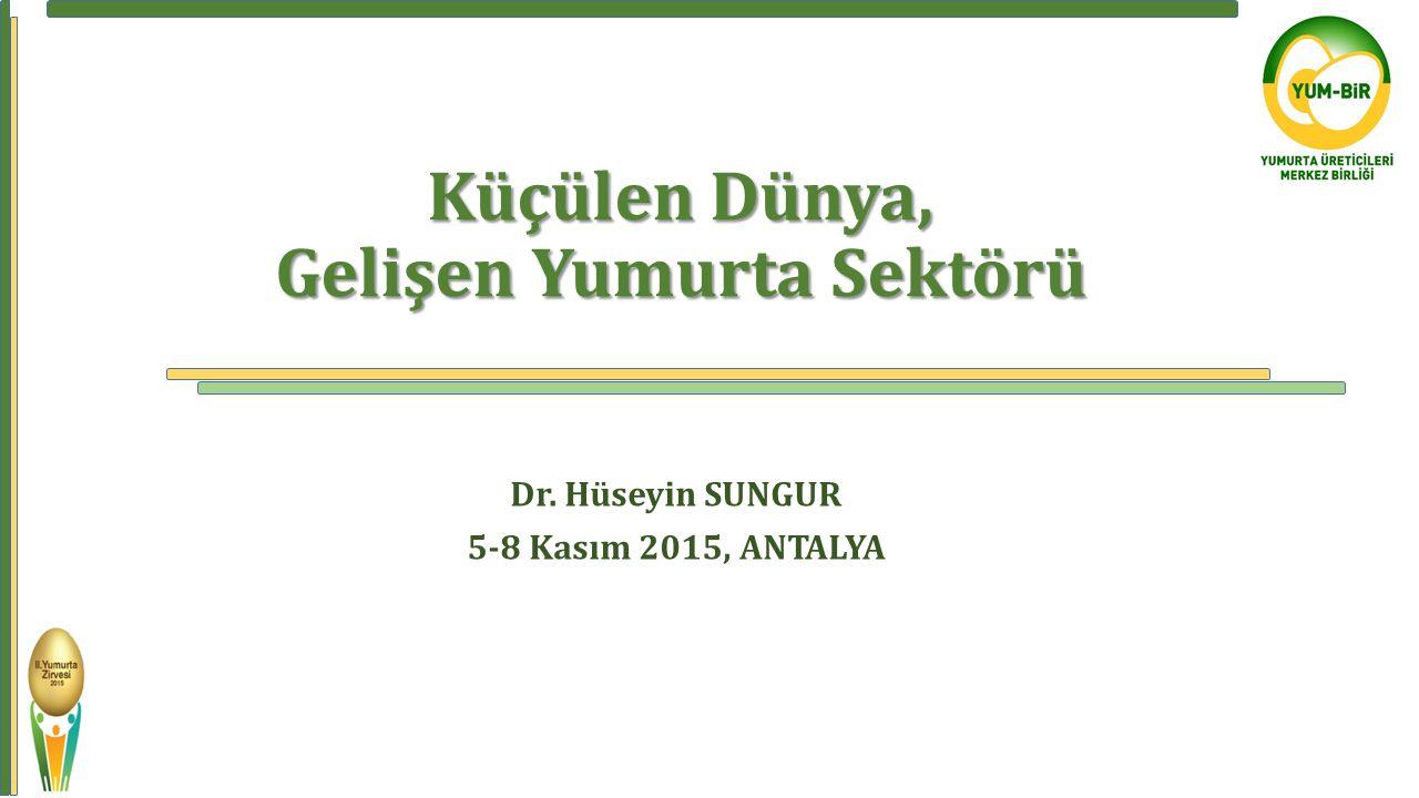 Küçülen Dünya, Gelişen Yumurta Sektörü Küçülen Dünya, Gelişen Yumurta Sektörü Dr. Hüseyin SUNGUR 5-8 Kasım 2015, ANTALYA