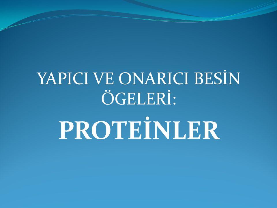 TANIM: Proteinler, amino asitlerin zincir halinde birbirlerine bağlanması sonucu oluşan büyük organik bileşiklerdir.