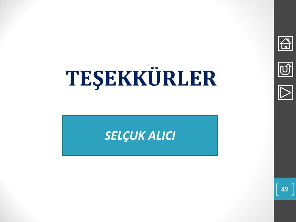 TEŞEKKÜRLER 49 SELÇUK ALICI