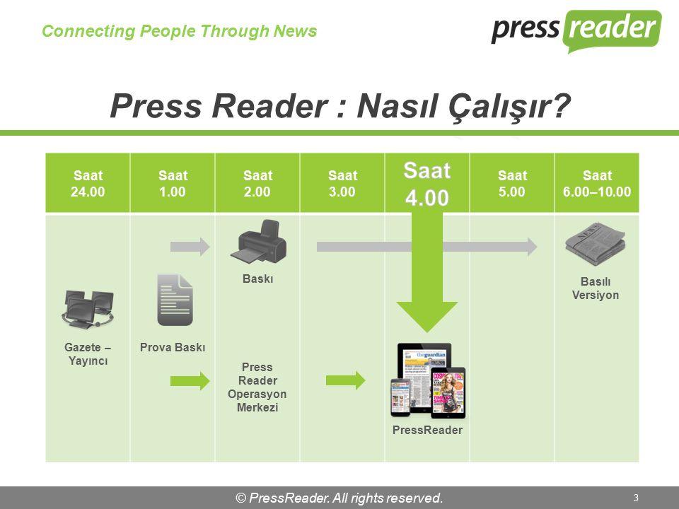 © PressReader.All rights reserved. 4 İnsanları Haberlerle Birbirine yaklaştırır …..