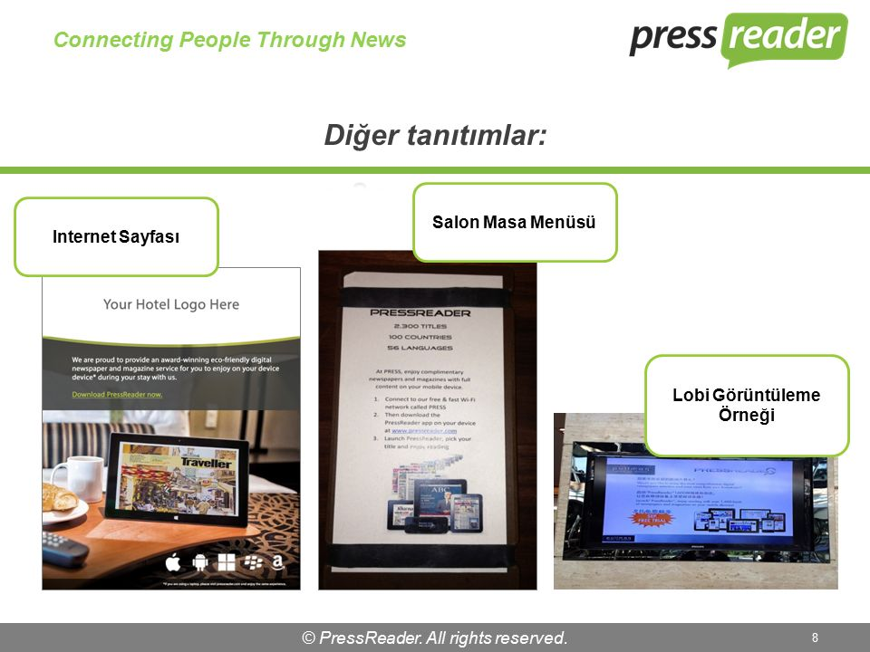 © PressReader. All rights reserved. 9 Connecting People Through News TV Ekranı