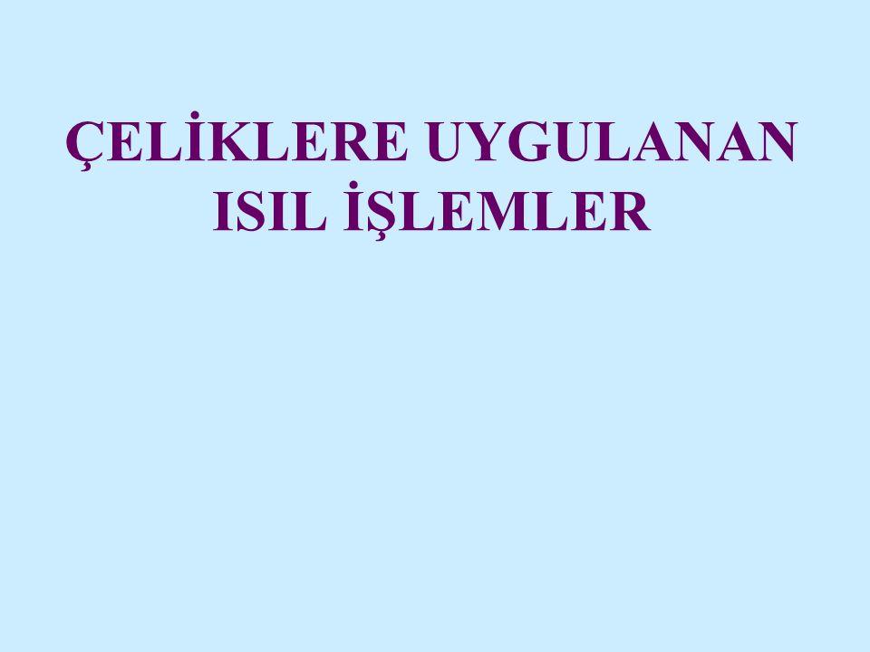 ÇELİKLERE UYGULANAN ISIL İŞLEMLER