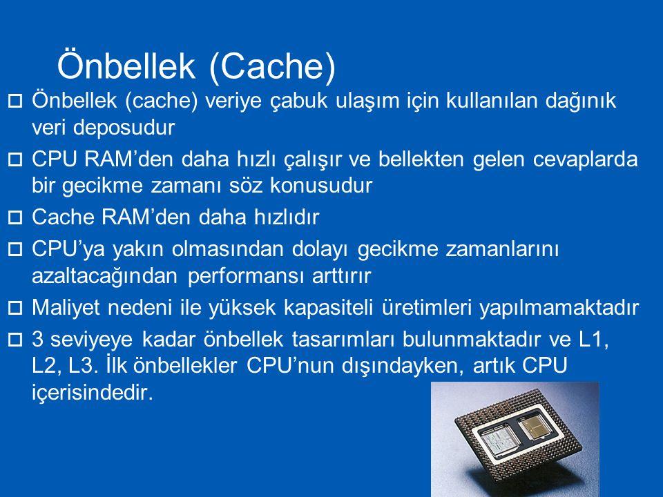  Pipelining birden fazla komutun CPU'nun farklı alanlarını kullanmasıdır.