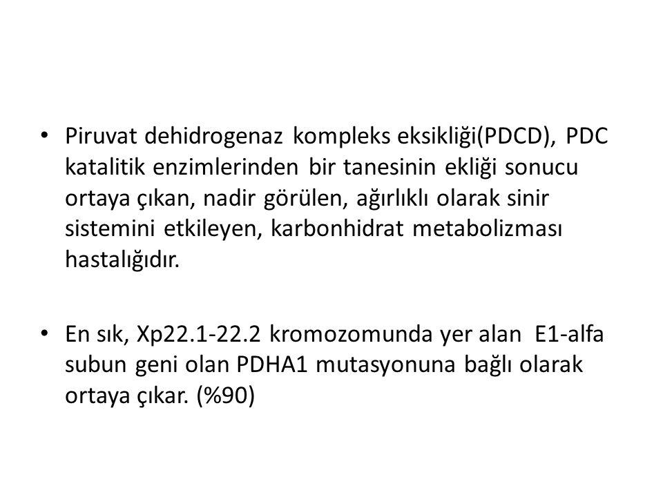 Piruvat dehidrogenaz kompleks eksikliği(PDCD), PDC katalitik enzimlerinden bir tanesinin ekliği sonucu ortaya çıkan, nadir görülen, ağırlıklı olarak s