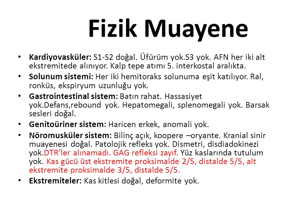 Periferik Sinir Hastalıkları 1.Guillain-Barre Sendromu Kas Hastalıkları a)Metabolik Miyopatiler 1.Pürivat dehidrogenaz eksikliği 2.Porfiri 3.Tirozinemi 4.Mitokondriyal miyopatiler b)Enflamatuar Miyopatiler 1.