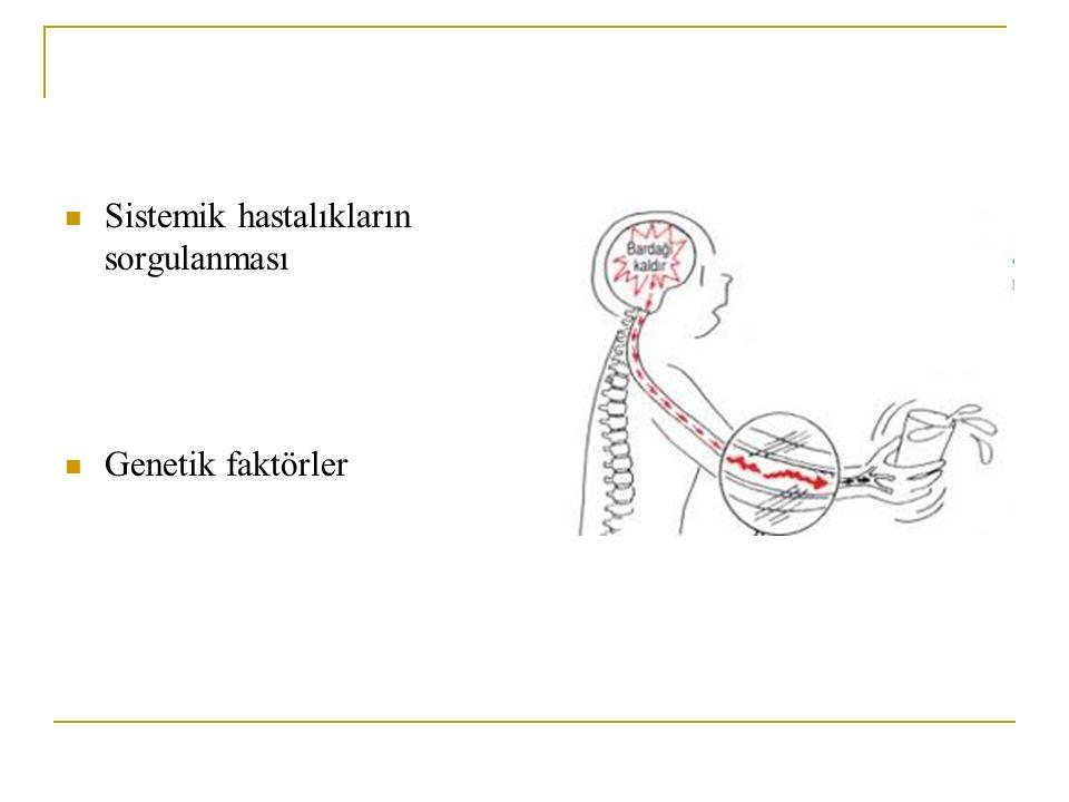 Sistemik hastalıkların sorgulanması Genetik faktörler