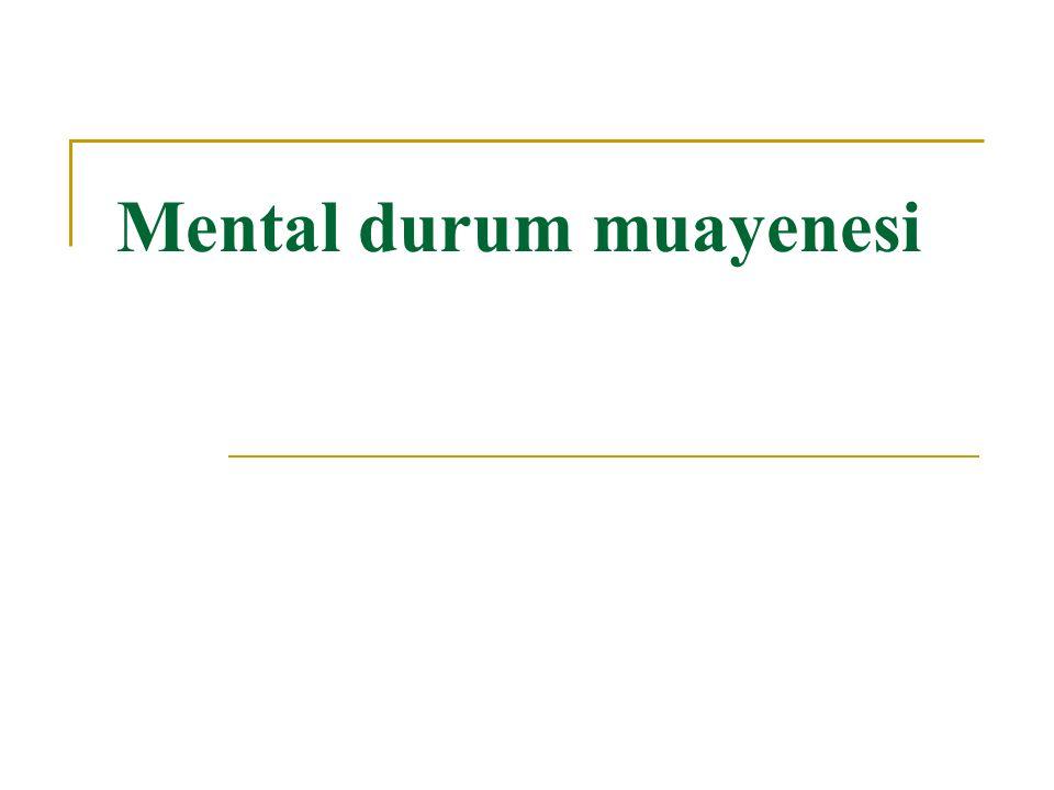 Bilinç seviyeleri: Progresif bozuklukları olan hastalarda aşağıdaki sırayla dört bilinç seviyesi ile karşılanır.