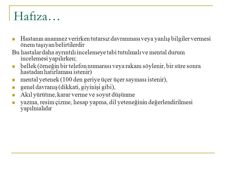 Kas tonusu: Hipotoni: Normal tonusun azalması veya kaybıdır.