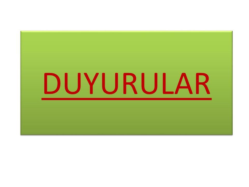 DUYURULAR