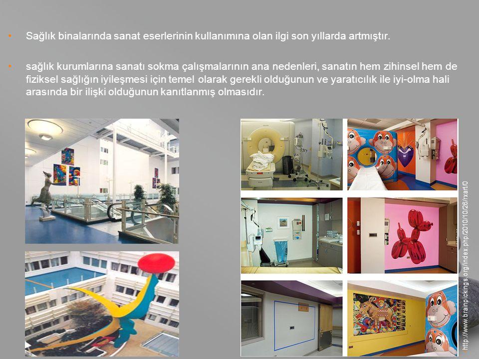 your name Sağlık binalarında sanat eserlerinin kullanımına olan ilgi son yıllarda artmıştır.