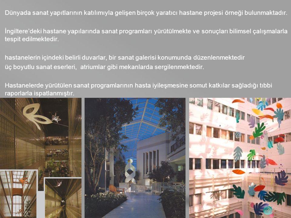 your name Dünyada sanat yapıtlarının katılımıyla gelişen birçok yaratıcı hastane projesi örneği bulunmaktadır.