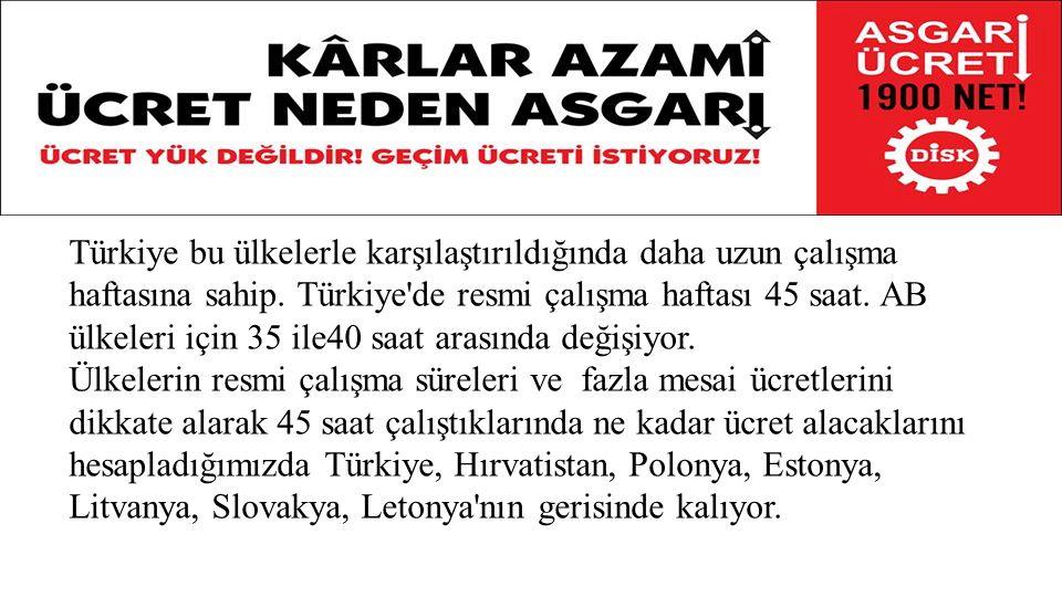 Türkiye'de esas kriz ortalama ücretlerde yaşanmaktadır.