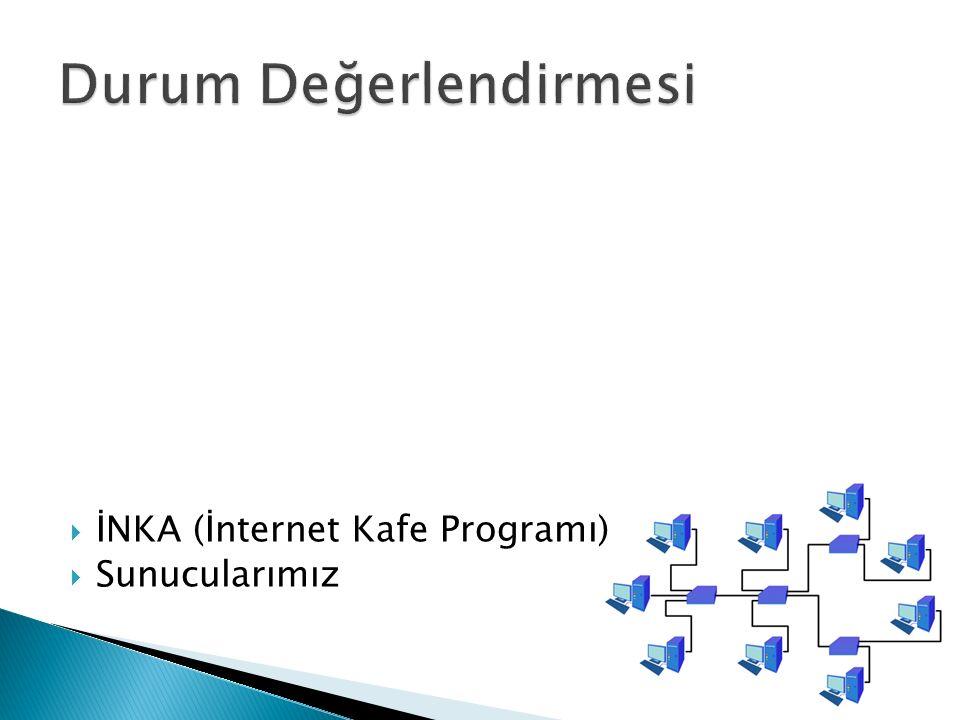  İNKA (İnternet Kafe Programı)  Sunucularımız