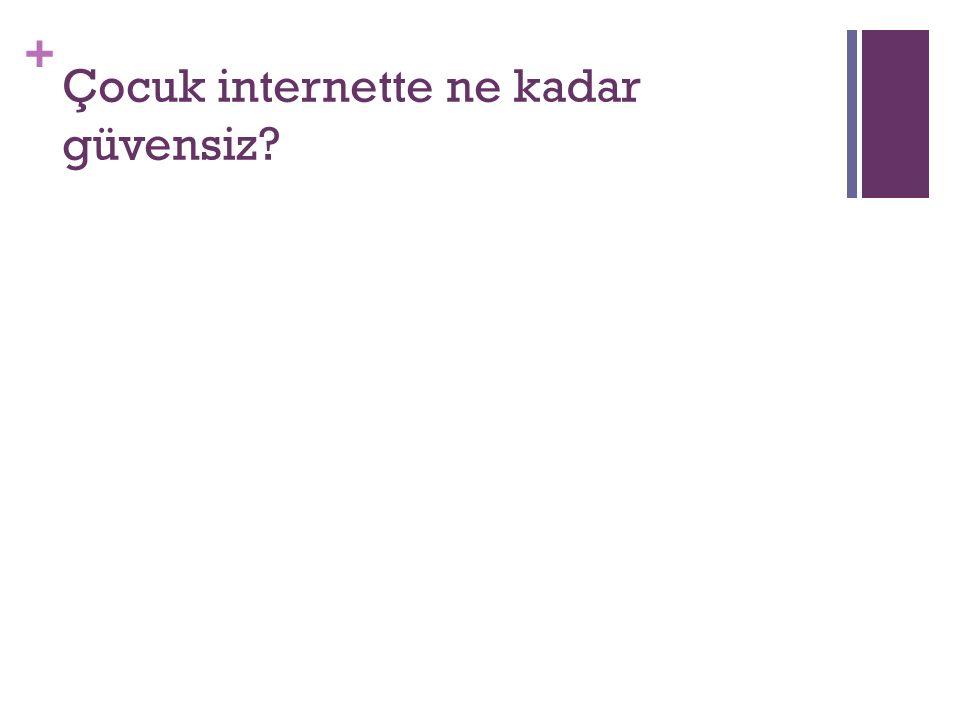 + Çocuk internette ne kadar güvensiz?