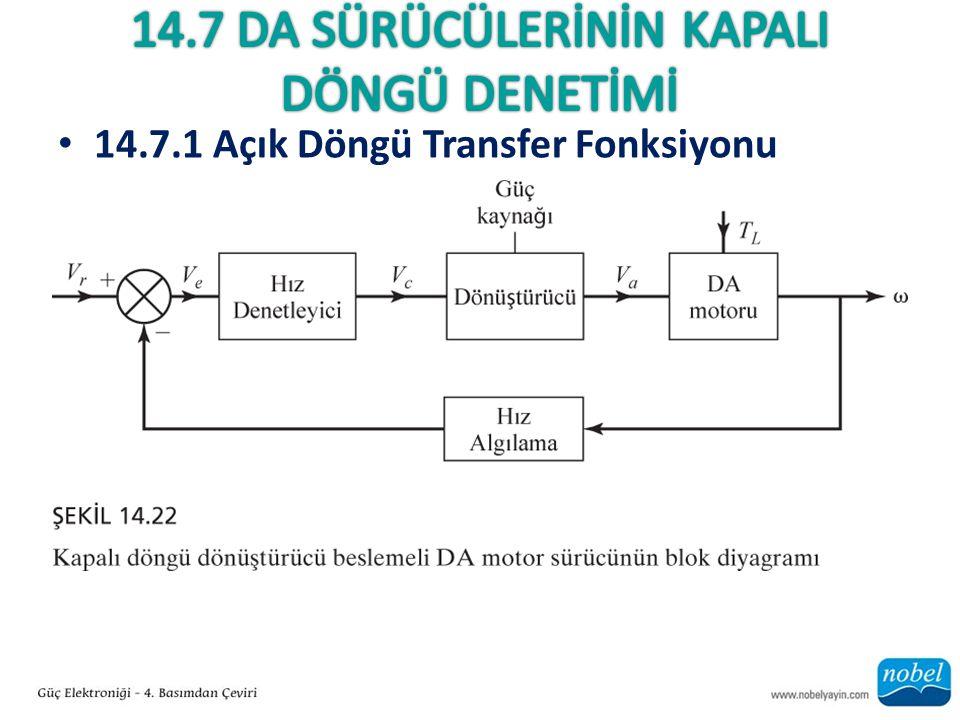 14.7.1 Açık Döngü Transfer Fonksiyonu