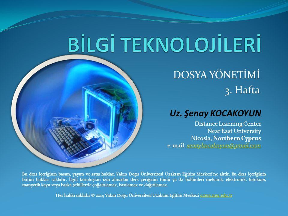 DOSYA YÖNETİMİ 3.