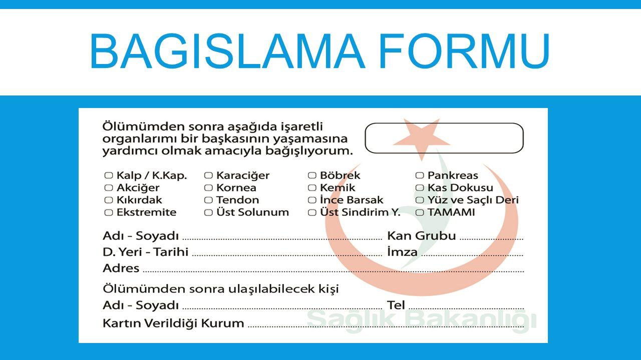 BAGISLAMA FORMU
