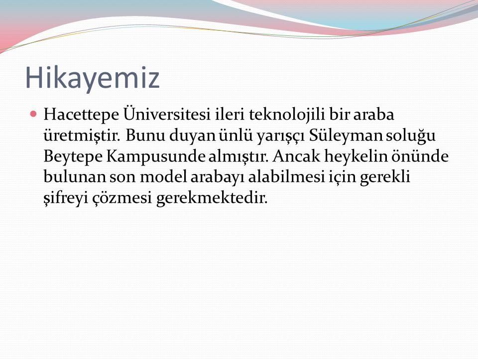 Hikayemiz Hacettepe Üniversitesi ileri teknolojili bir araba üretmiştir.