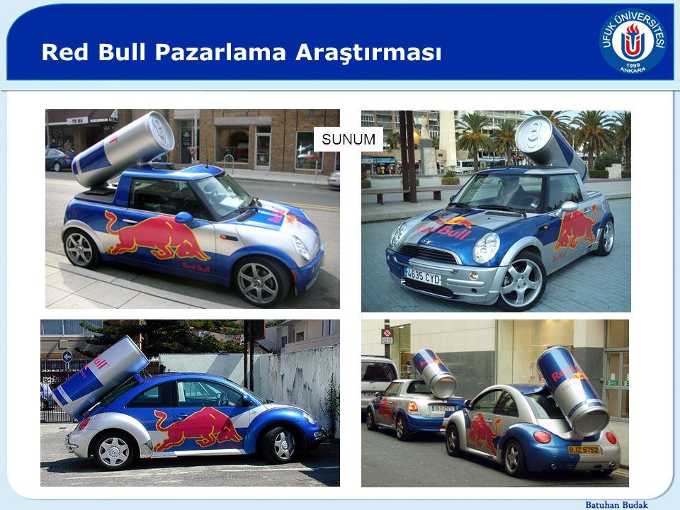 Red Bull Pazarlama Araştırması SUNUM