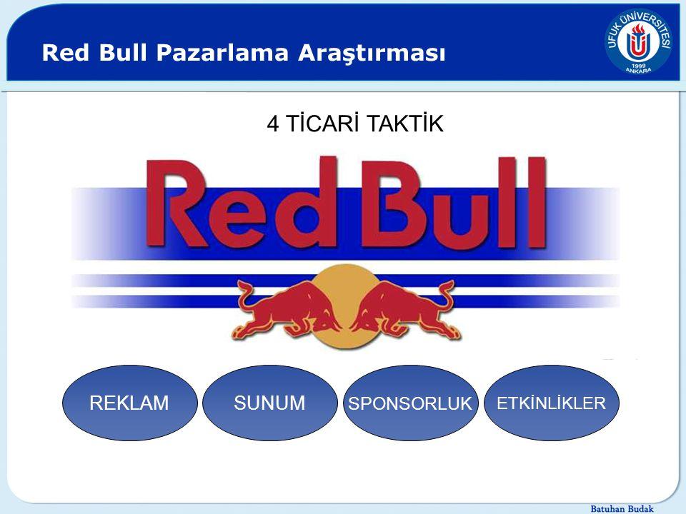Red Bull Pazarlama Araştırması REKLAMSUNUM SPONSORLUK ETKİNLİKLER 4 TİCARİ TAKTİK