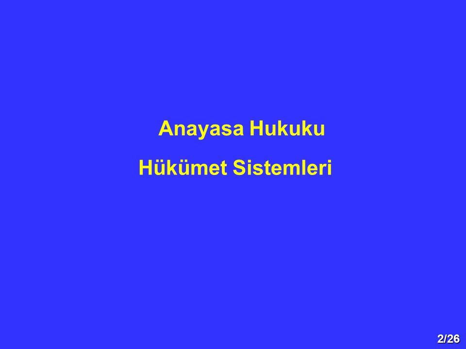 23/26  Meclis hükümet sisteminde meclis teorik olarak üstündür.
