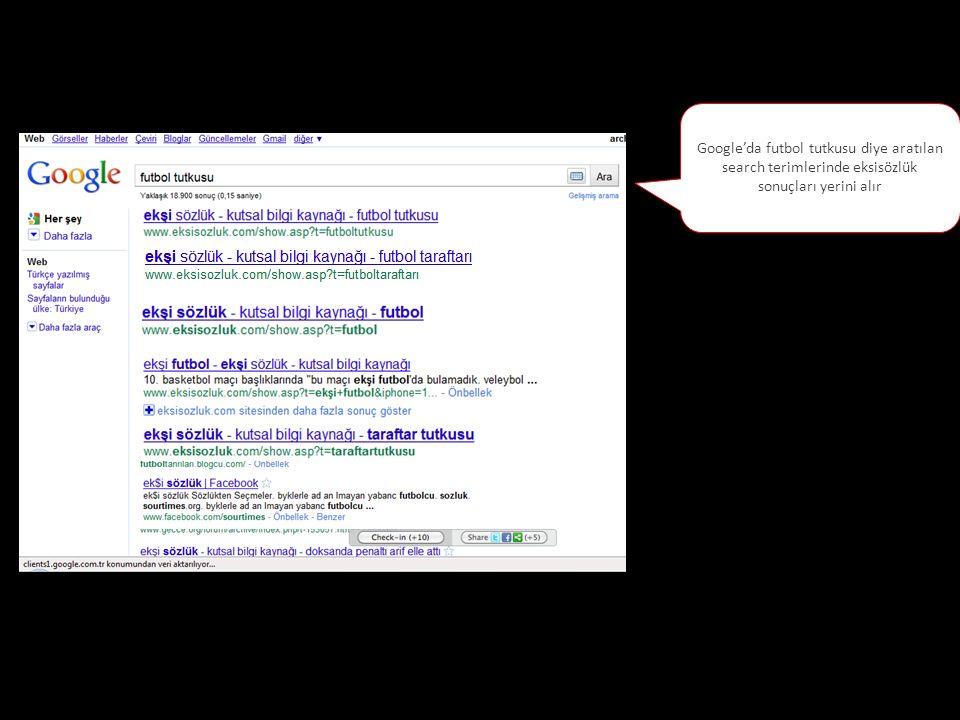 Google'da futbol tutkusu diye aratılan search terimlerinde eksisözlük sonuçları yerini alır