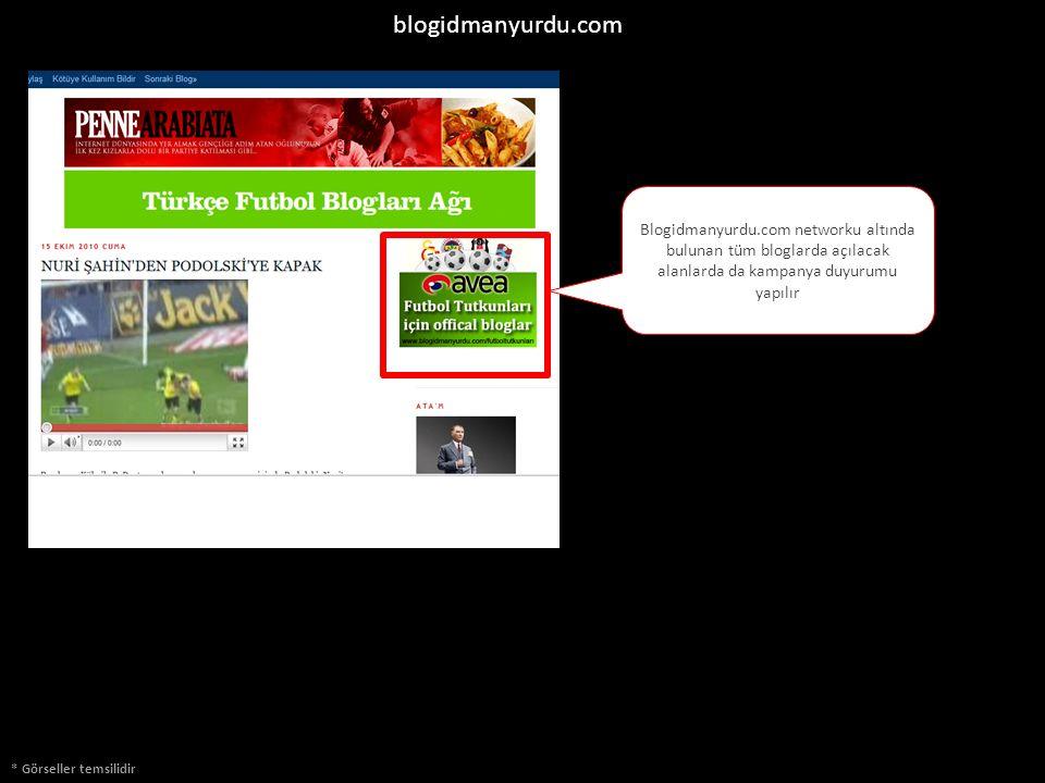 blogidmanyurdu.com Blogidmanyurdu.com networku altında bulunan tüm bloglarda açılacak alanlarda da kampanya duyurumu yapılır * Görseller temsilidir