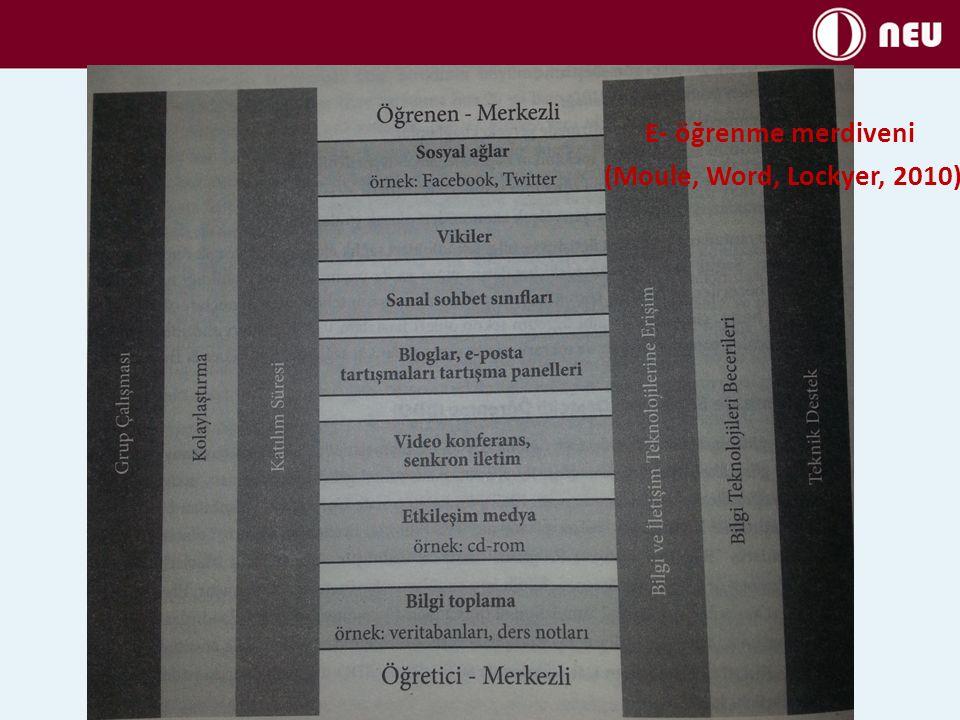 E- öğrenme merdiveni (Moule, Word, Lockyer, 2010)