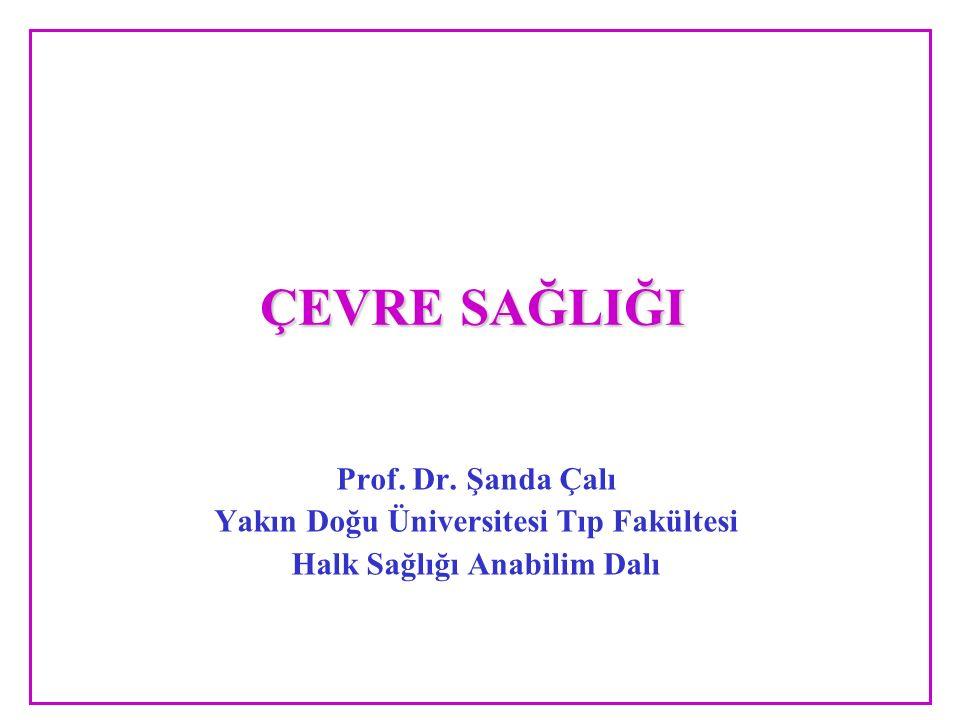 ÇEVRE SAĞLIĞI Prof. Dr. Şanda Çalı Yakın Doğu Üniversitesi Tıp Fakültesi Halk Sağlığı Anabilim Dalı