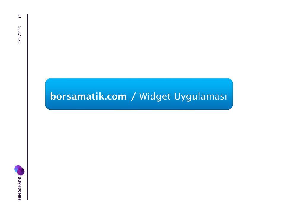 borsamatik.com / Widget Uygulaması 12/11/2015 19