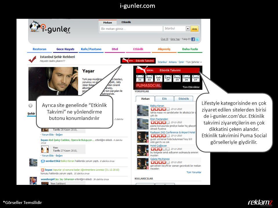 i-gunler.com *Görseller Temsilidir Lifestyle kategorisinde en çok ziyaret edilen sitelerden birisi de i-gunler.com'dur. Etkinlik takvimi ziyaretçileri