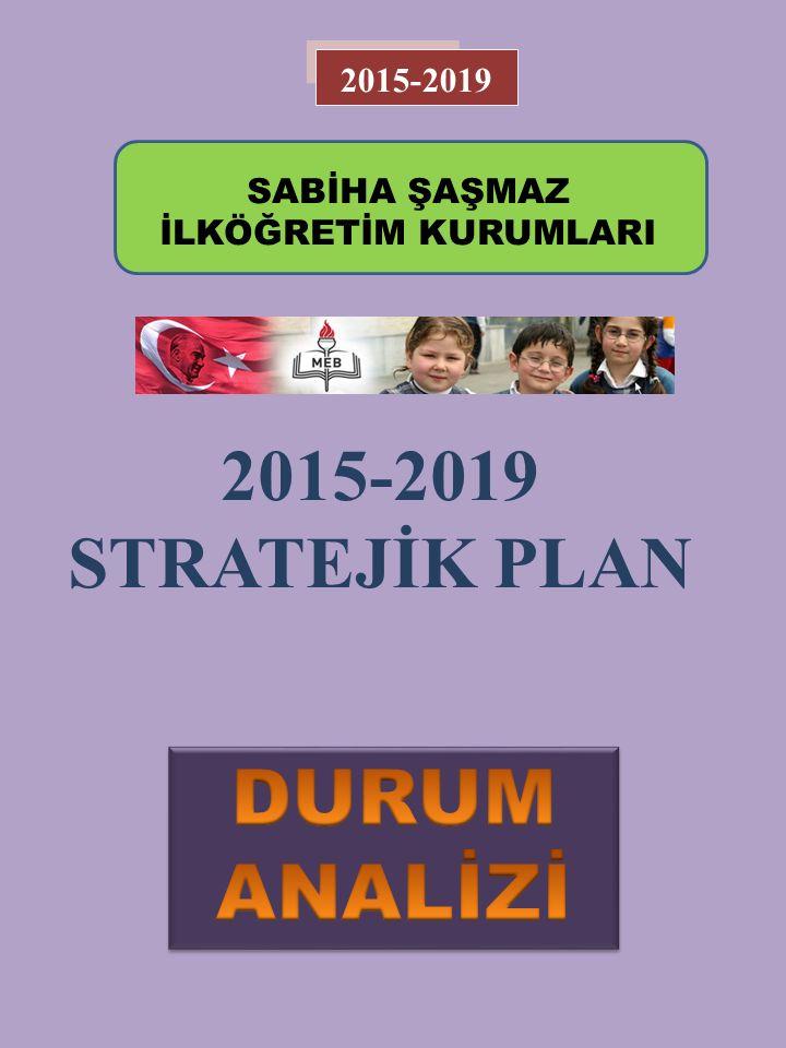 2015-2019 STRATEJİK PLAN 2015-2019 SABİHA ŞAŞMAZ İLKÖĞRETİM KURUMLARI