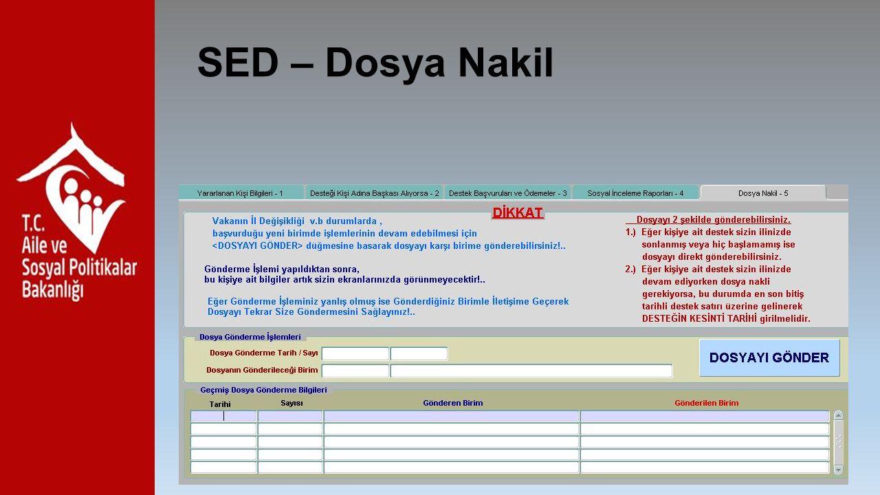 SED – Dosya Nakil