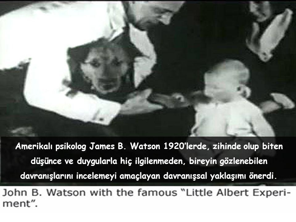 Amerikalı psikolog James B. Watson 1920'lerde, zihinde olup biten düşünce ve duygularla hiç ilgilenmeden, bireyin gözlenebilen davranışlarını inceleme
