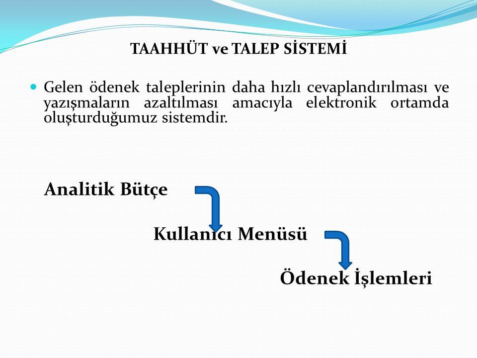 Ödenek Duyuru Sistemi Kurumumuzca tahsisi yapılan ödeneklerin ilgililer tarafından tahsisinin yapılıp yapılmadığının takip edilebildiği bölümdür.