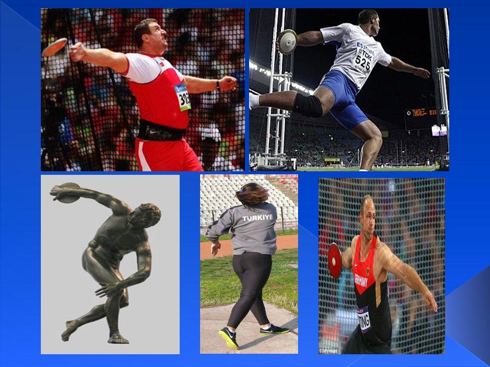  Yuvarlak yassı bir ağırlığın fırlatılması esasına dayanan, pist ve alan sporudur.