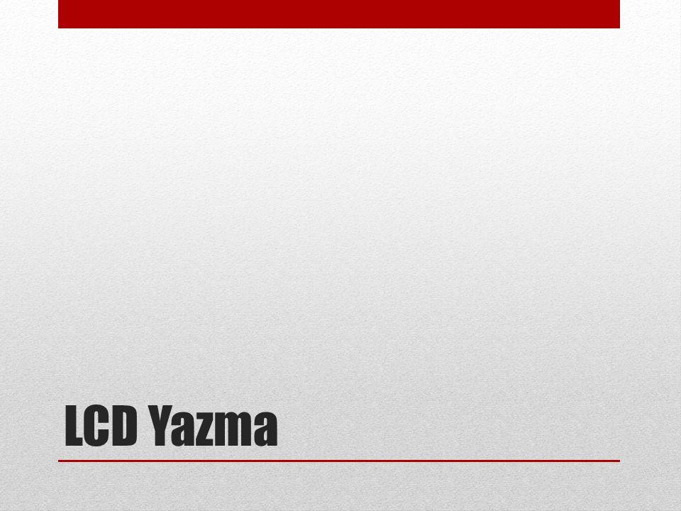 LCD Yazma