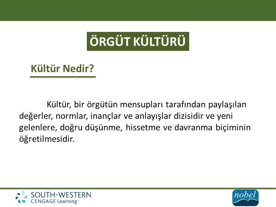 ÖRGÜT KÜLTÜRÜ Kültür Nedir.
