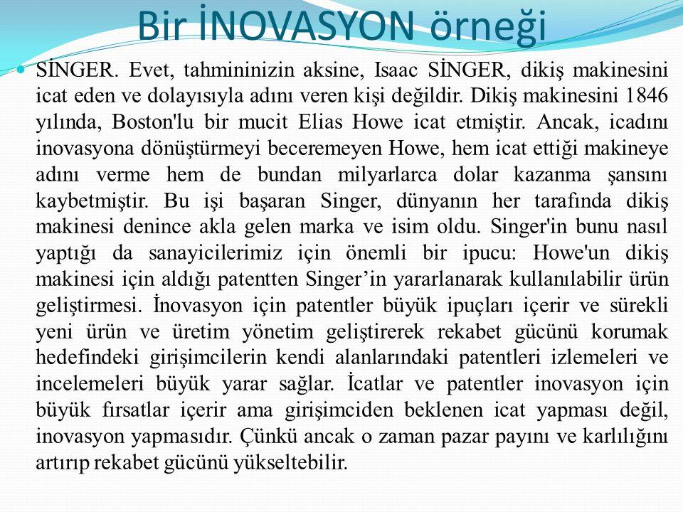 Kaizen ve Inovasyon (yenilik) karşılaştırması